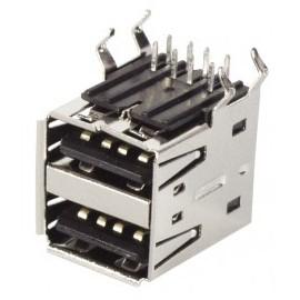 CONNECTEUR USB TYPE A/F DOUBLE