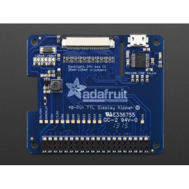 Adafruit DPI TFT Kippah pour Raspberry Pi with Touch Support