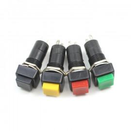 Interrupteur carré 12mm Noir