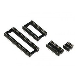 Support double lyre 2.54mm 8P